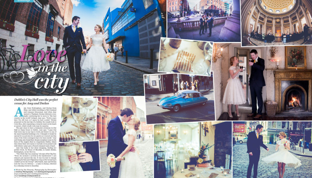 Wedding Photographer Dublin – Irish independent magazine featuring wedding of Amy & Declan