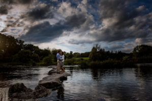 Wedding Photographer Limerick engagement pictures river site